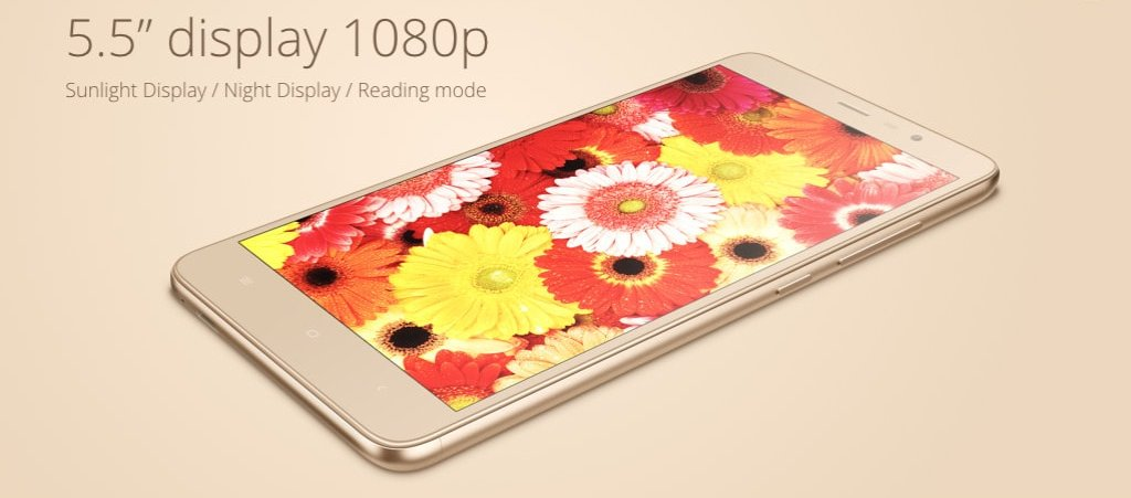 "Redmi Note-3 has 5.5"" Full HD Display"