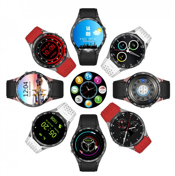 Design and Appearance of KingWear KW88 3G Smartwatch