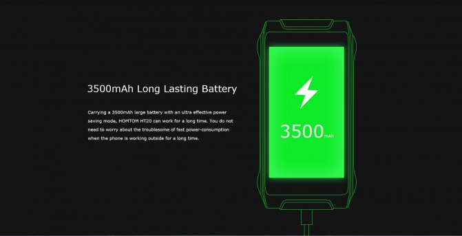 Long Battery life in Homtom HT20