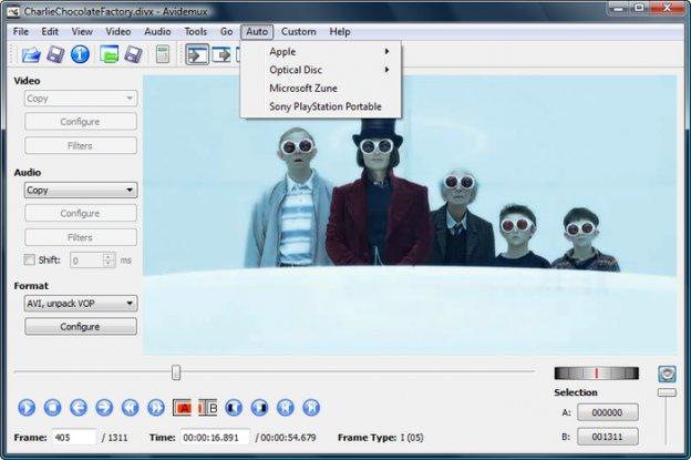avidemux FREE Video editing software