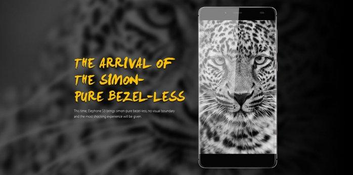 Elephone S3 Bazel-less phone