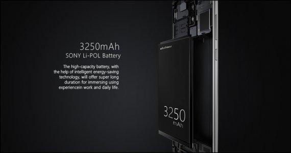 Powerful 3250 mAh Battery