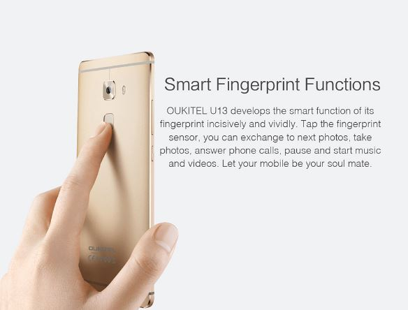 finger print sensor in U13