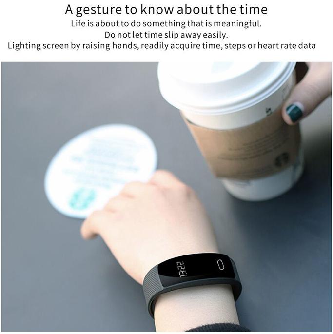 QS80 Heart Rate Smart Wristband