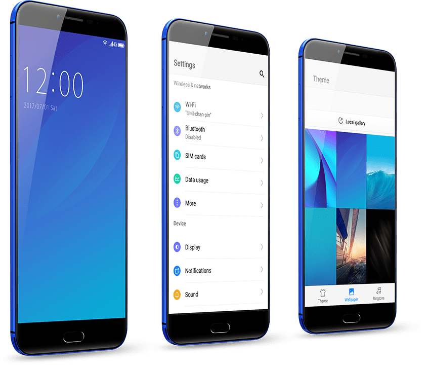Android 7 OS in umidigi c note 2