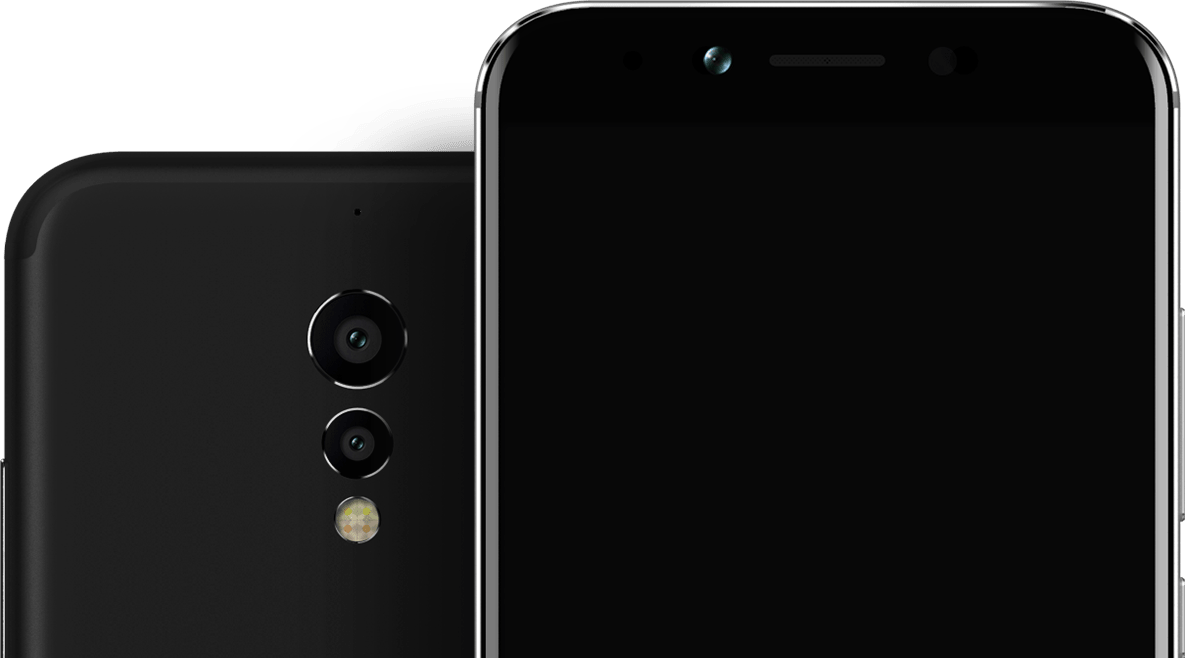 13+5 megapixel Rear camera in umidigi S