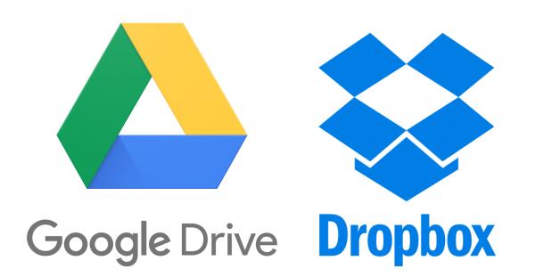 Google Drive or Dropbox