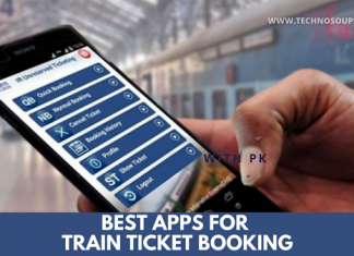 Train ticket booking apps