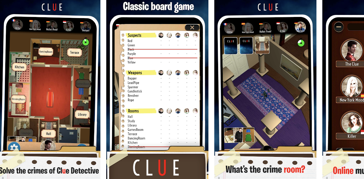 Clue Detective: mystery murder criminal board game